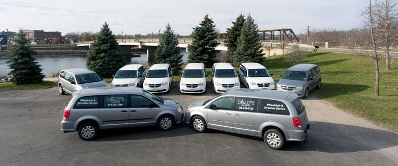 dollys transport fleet of vehicles
